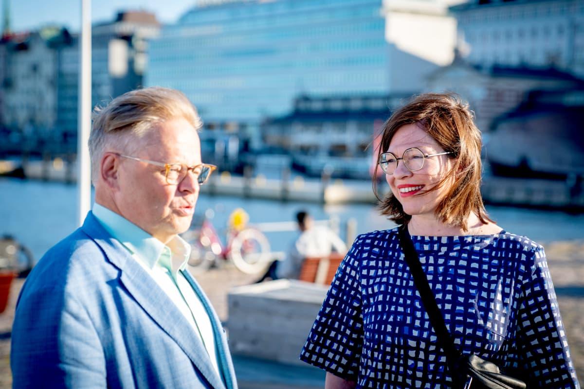 Juhana Vartiainen ja Anni Sinnemäki