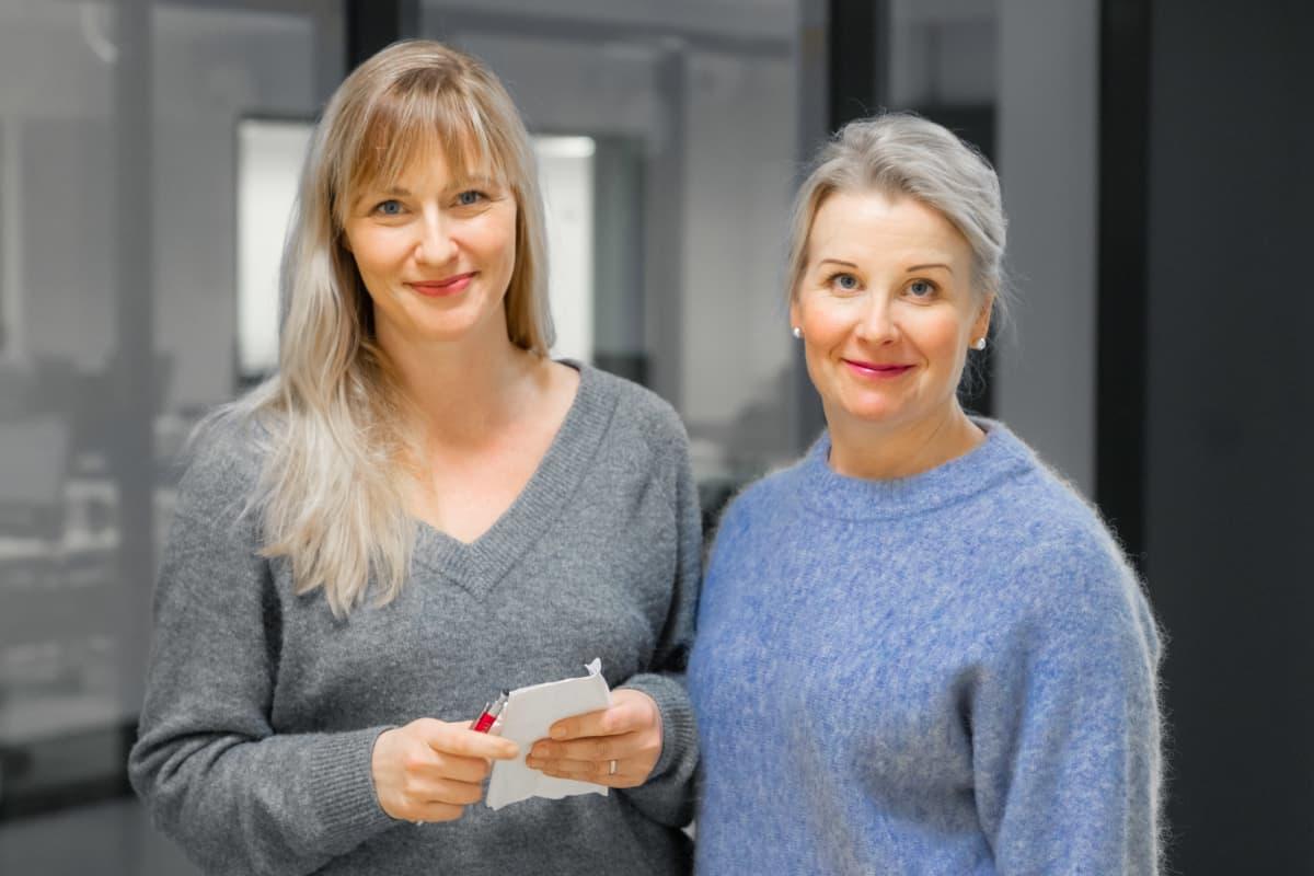 Yle Tampereen toimittajat Anna Sirén ja Katri Tapola