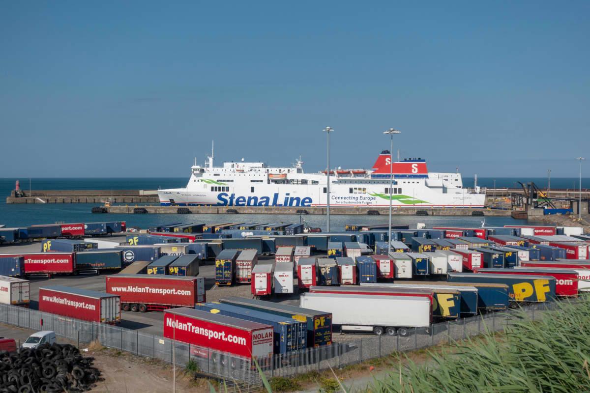 Rosslare Europort -satama Rosslaressa Kaakkois-Irlannissa.