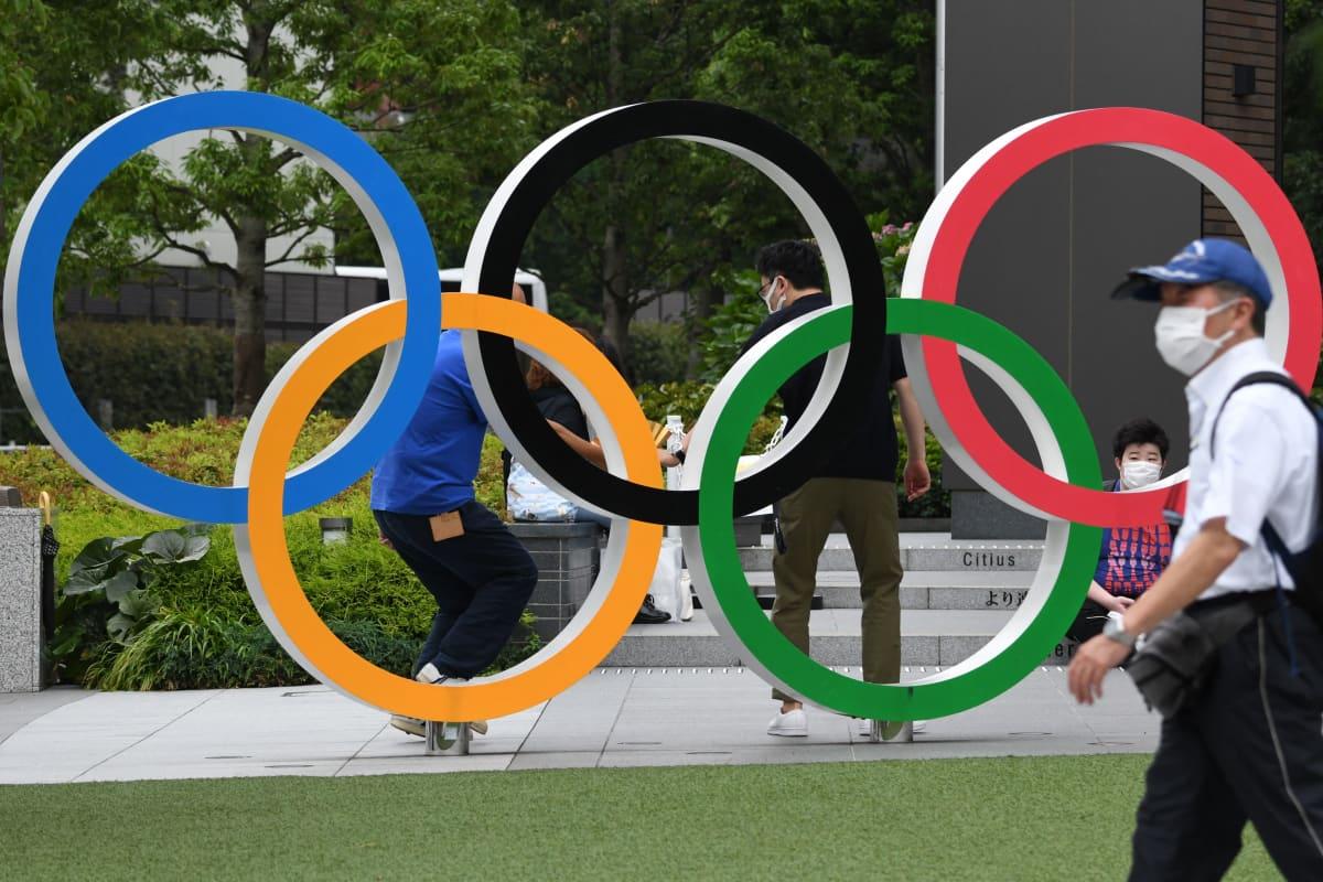 Tokio, olympiarenkaat, 7.7.2021