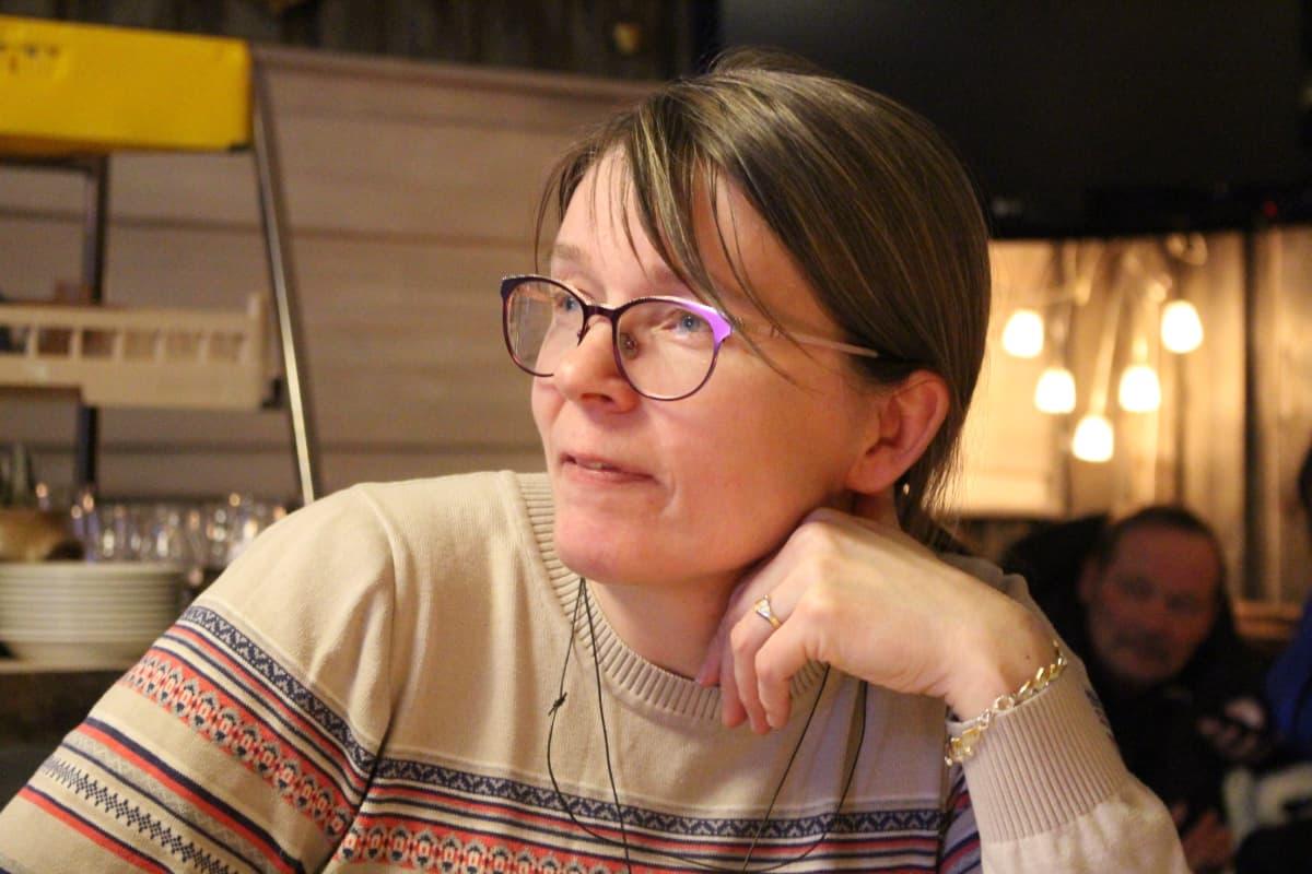 Eeva-Maria Maijala Sevettijärven postikeskustelussa 9.1.2018.