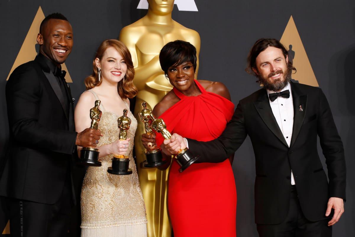 Mahershala Ali, Emma Stone, Viola Davis ja Casey Affleck.