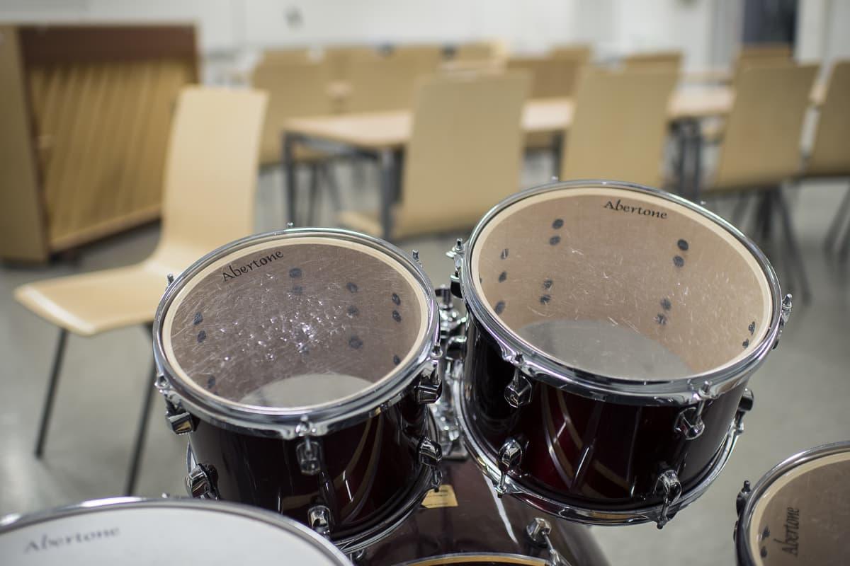 Donnerin koulun musiikkiluokka.