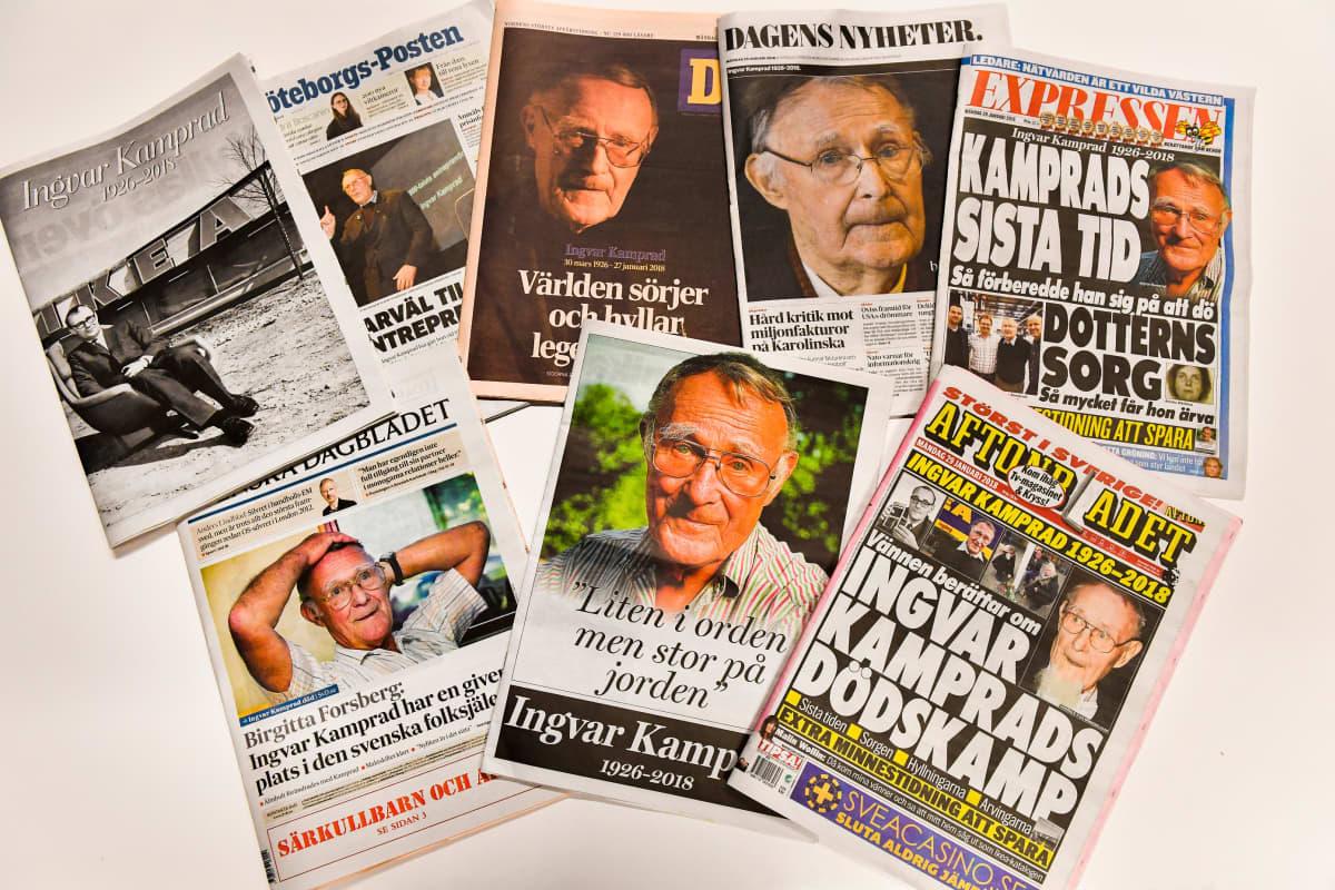 Lehtiotsikot Kampradin kuolemasta