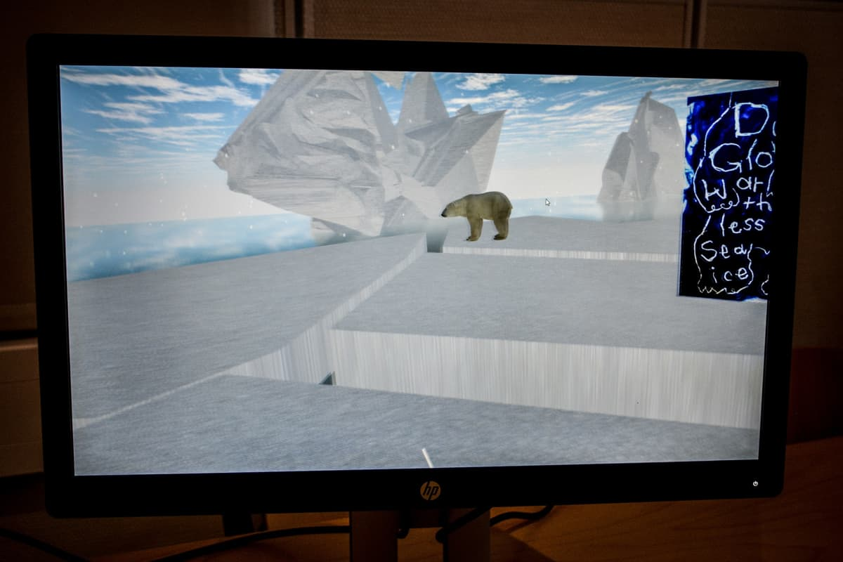 Panda piilossa, virtuaalitodellisuusnäyttely
