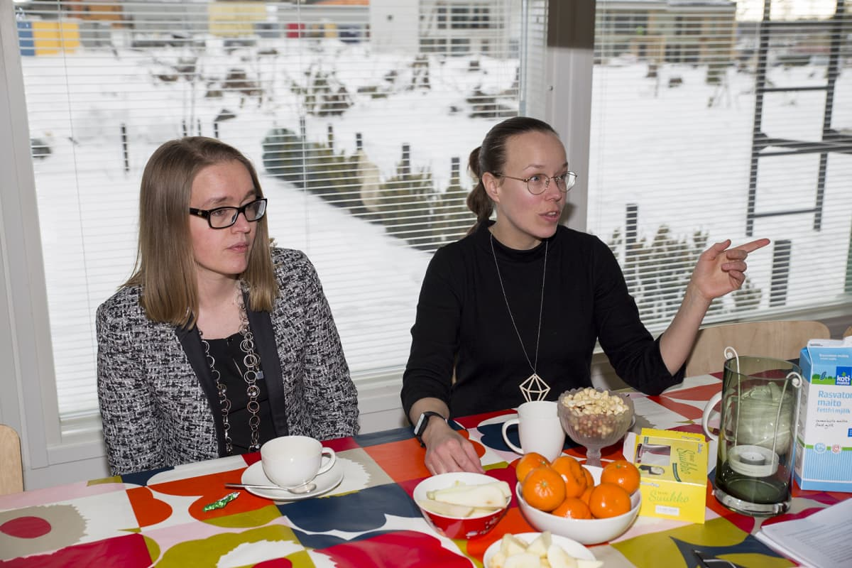 Maija Pajukoski ja Anna Karhumaa
