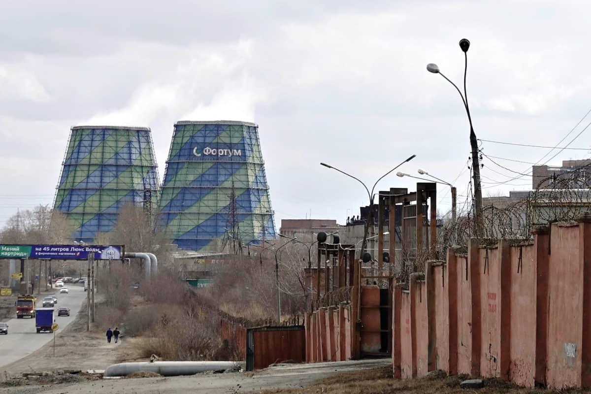 Venäjän Tšeljabinskissa sijaitseva Fortumin lämpövoimala.