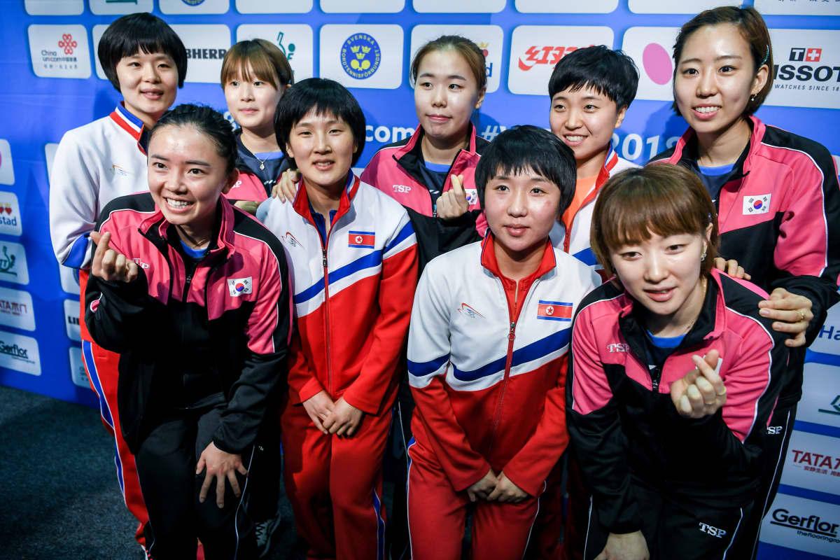 Etelä- ja Pohjois-Korean yhdistynyt joukkue.