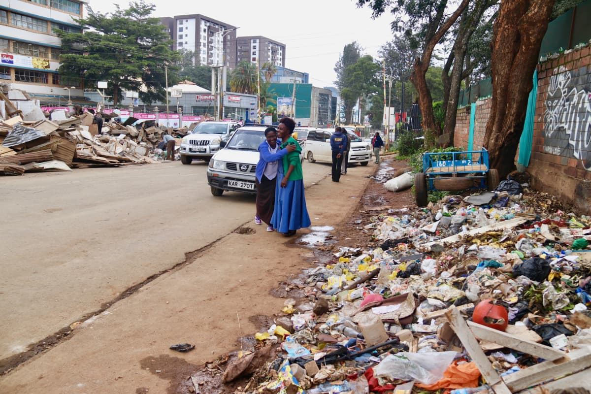 Roskakasoja näkyy edelleen ympäri Nairobia, mutta ne ovat vähentyneet huomattavasti muovipussikiellon takia.