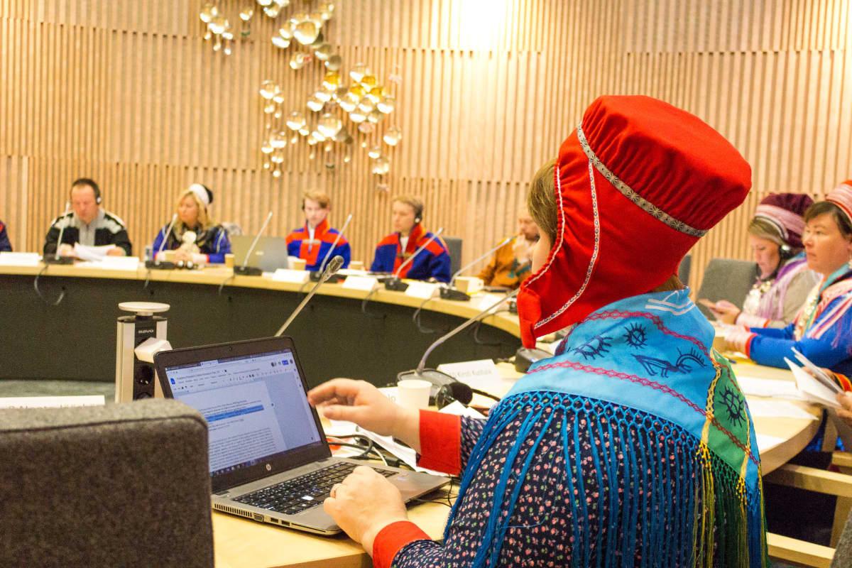 Saamelaiskäräjien täysistunto 24.9.2018.