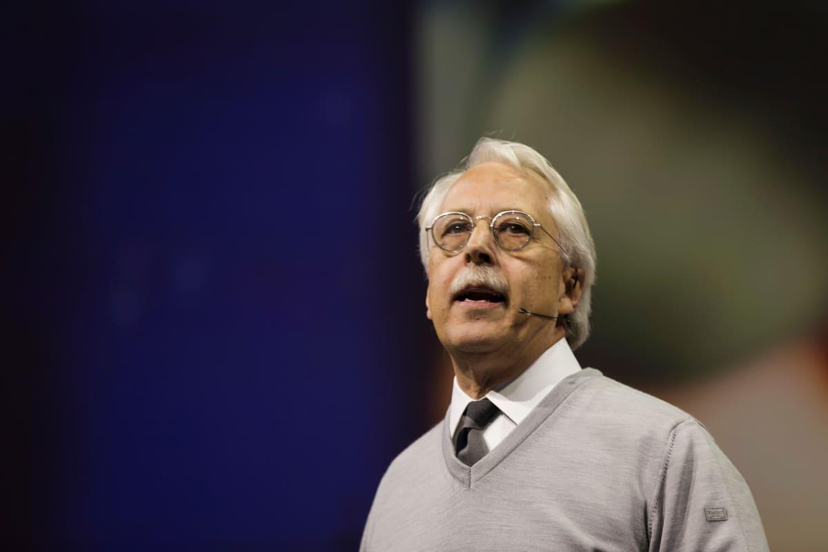 Professori Gary Hamel puhumassa Nordic Business Forumissa