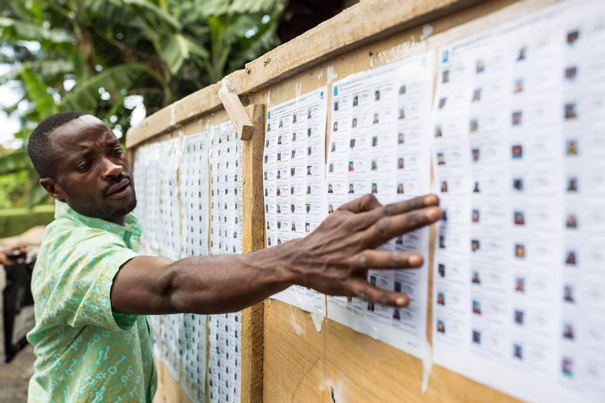 Vaalirekisteriluettelo on asetettu esille.
