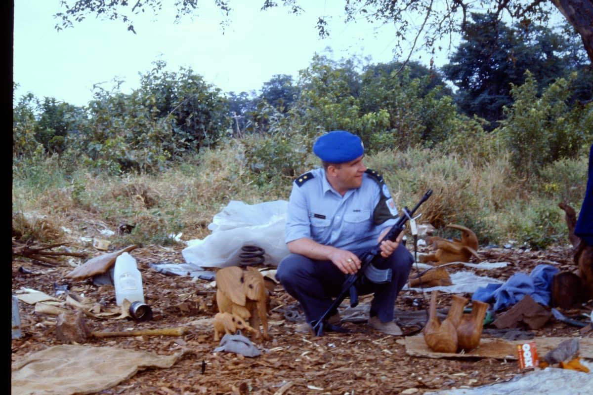 Timo Heikkinen osallistui rauhanturvaoperaatioon Namibiassa vuosina 1989-1990.