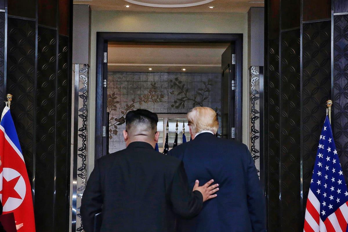 Kim Jong Un ja Donald Tump Singaporessa kesäkuussa 2018.