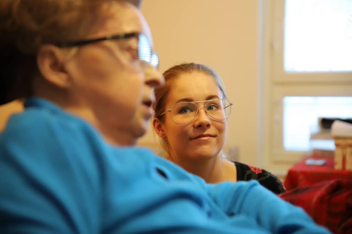 Mia Leino ja Pirkko Martikainen.