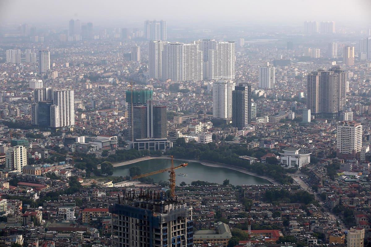 Kaupunkinäkymä Hanoista.
