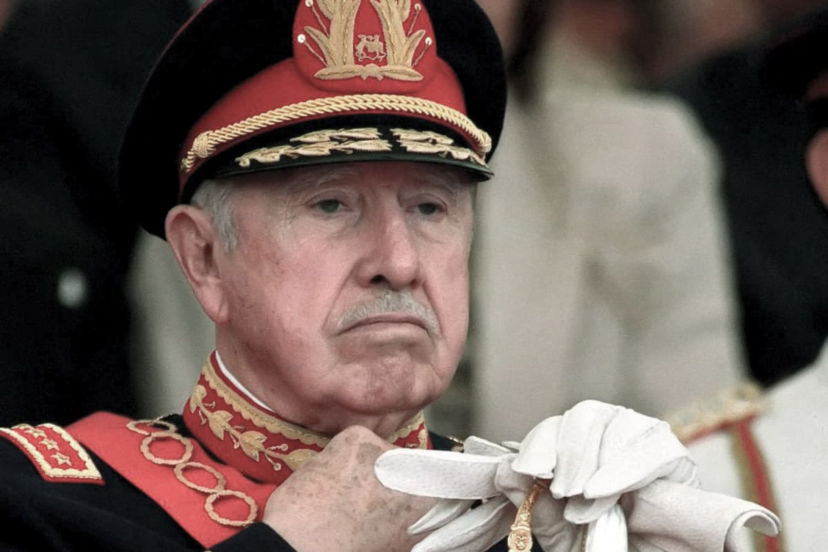 Chilen entinen diktaattori Augusto Pinochet.