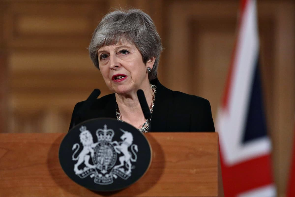 Britannian pääministeri Theresa May.
