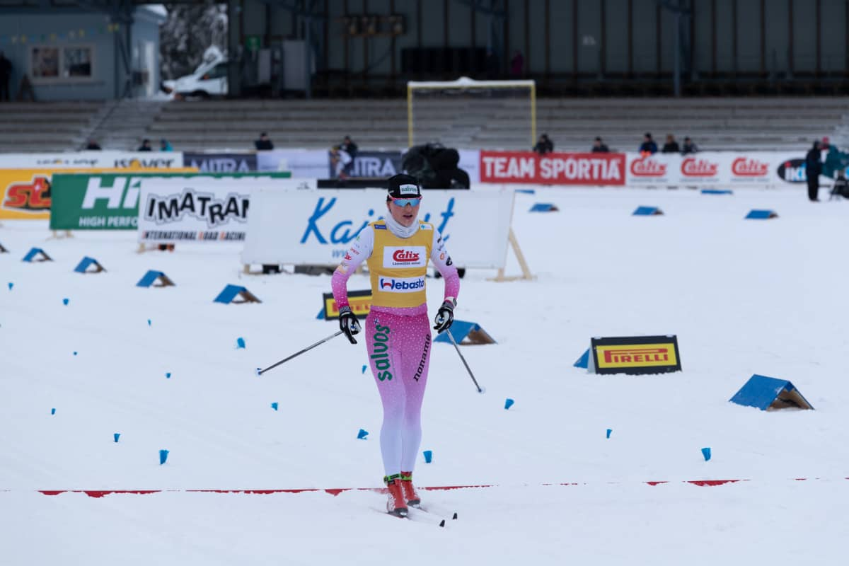 Johanna Matintalo hiihti puolikuntoisena Imatran SM-laduilla.