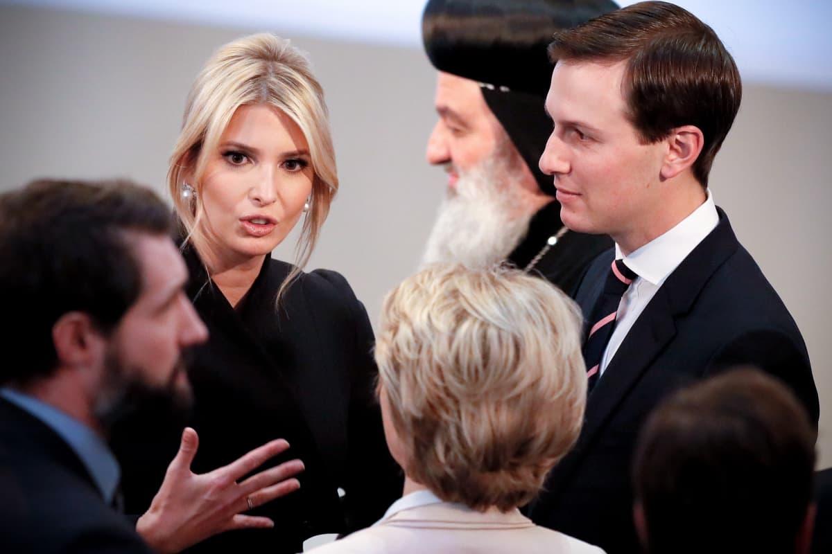 Ivanka Trump ja puoliso Jared Kushner (oik.) osallistuivat Münchenin turvallisuuskokoukseen helmikuussa.
