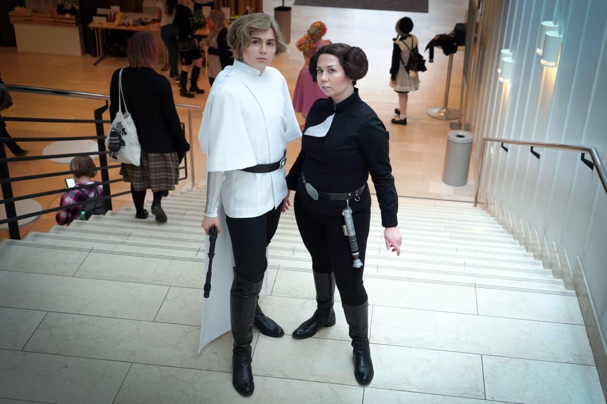 Luke Skywalker, Leia Organa, Popcult, cosplay, Tiirabird Cosplay, grid_cosplay
