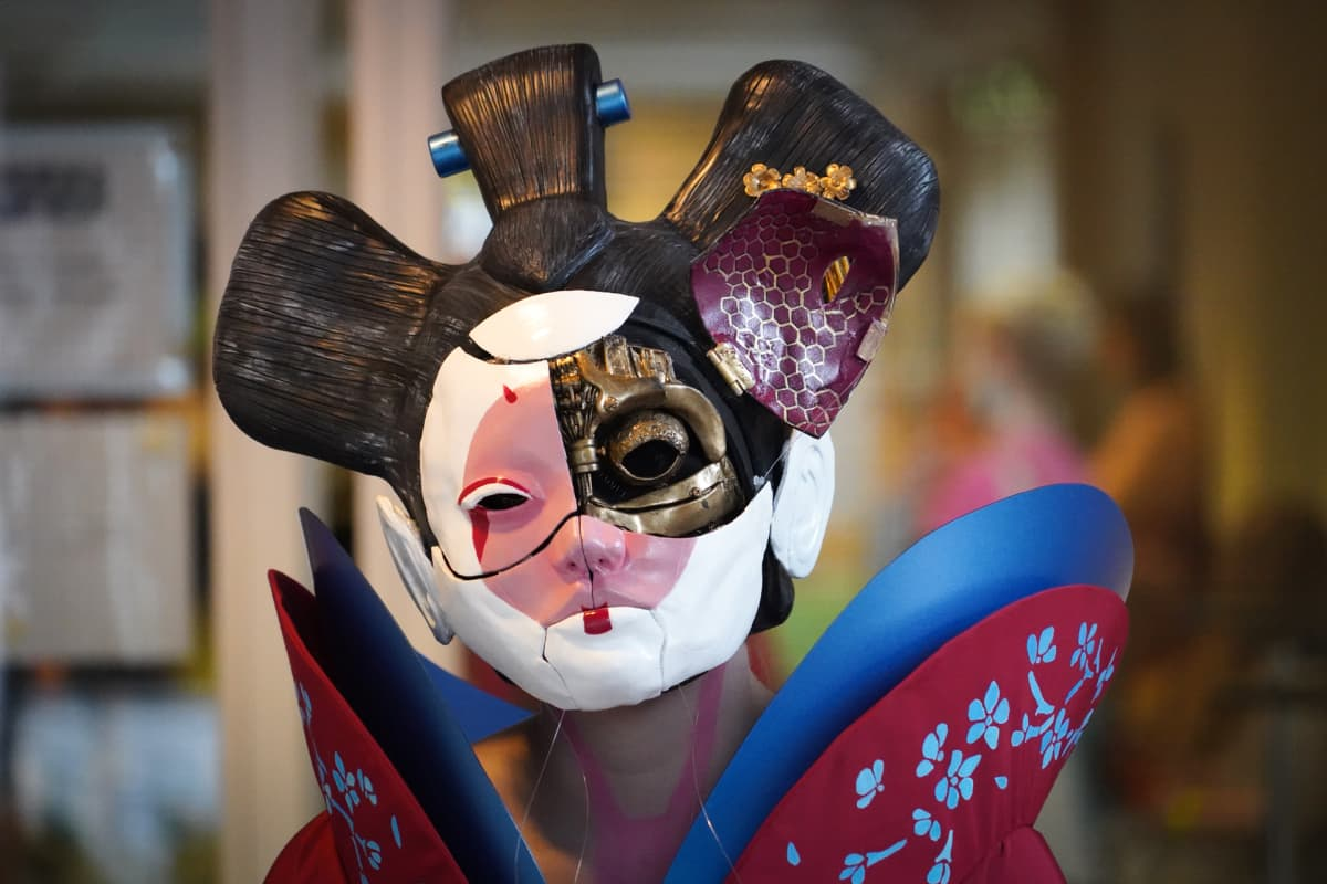 Popcult, cosplay, Ghost in the Shell, geisha