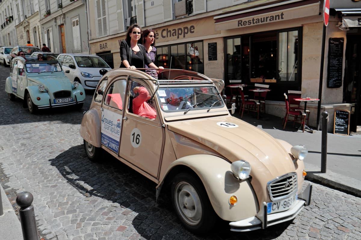 Vuokra-autolla Pariisissa.