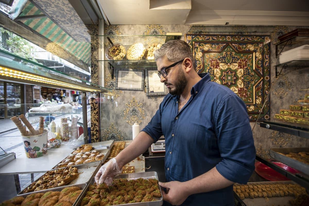 Baklavan myyjä