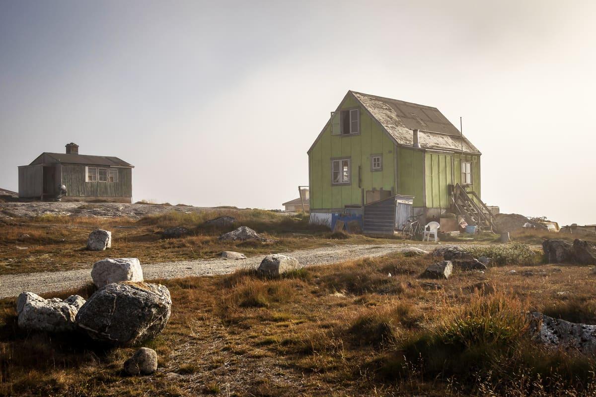 Taloja Nanortalikin kylässä.
