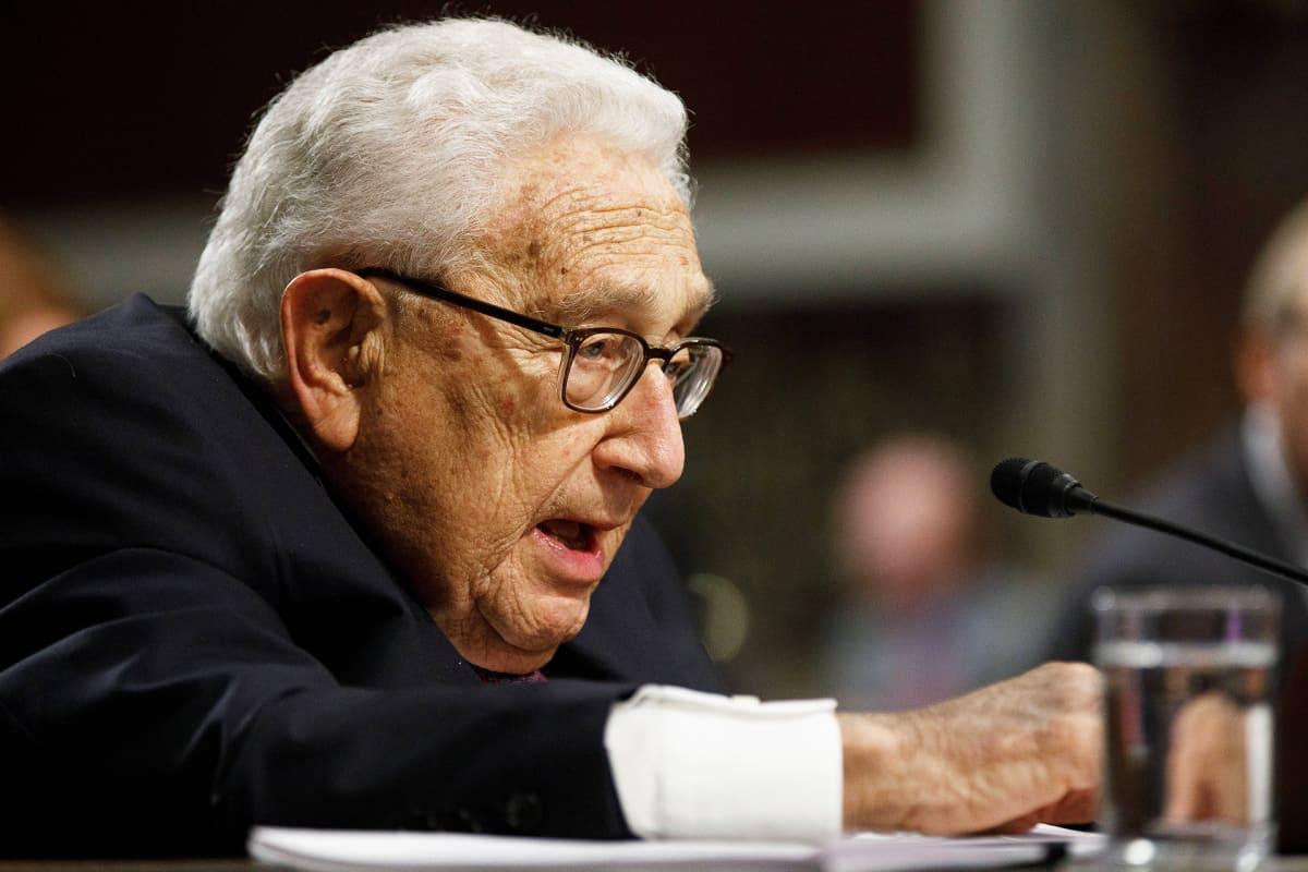 Yhdysvaltain entinen ulkoministeri Henry Kissinger.