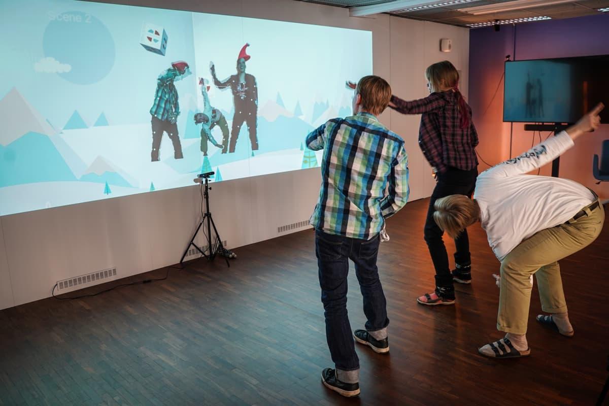 Helsinki XR Center, interaktiivinen seinä