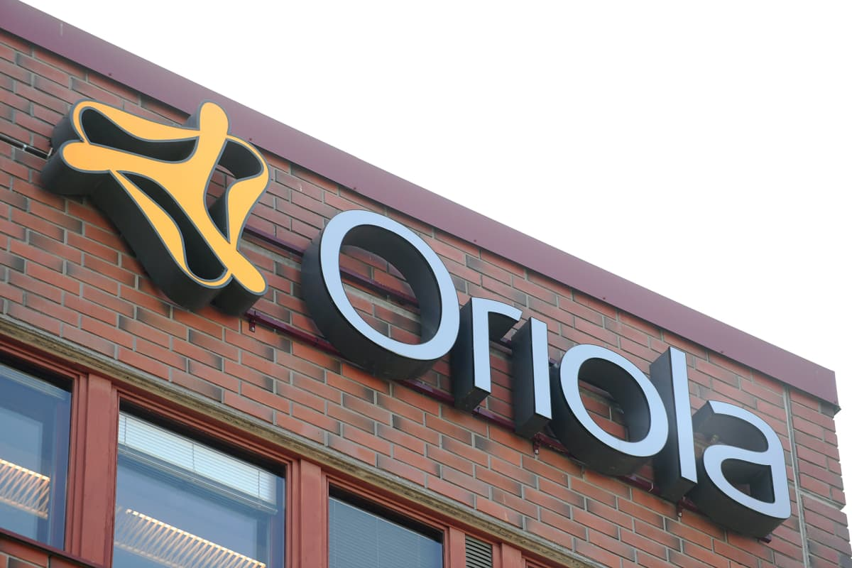 Lääketukkukauppa Oriolan logo yhtiön pääkonttorilla Espoossa 17. heinäkuuta 2019.
