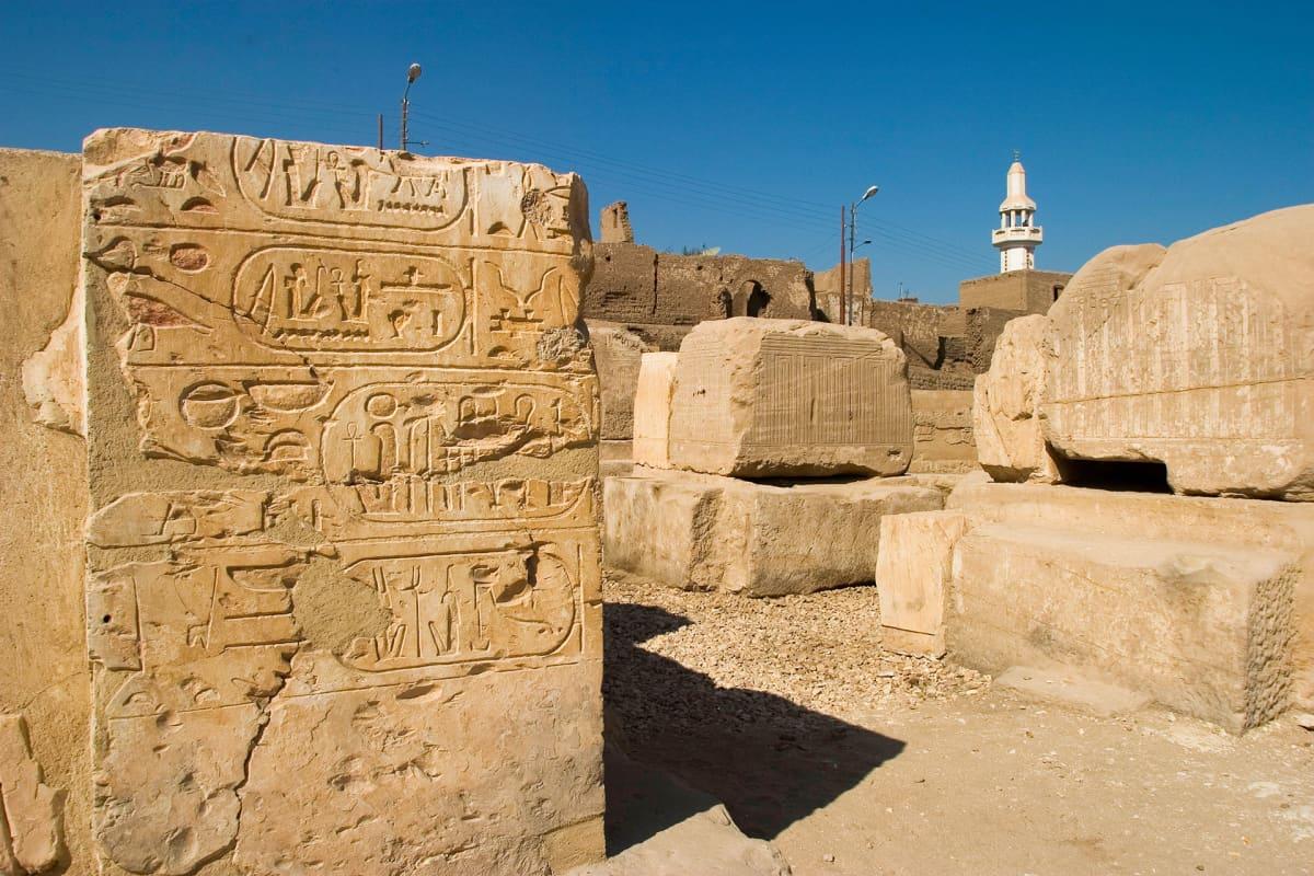 Abydosissa sijaitseva Seti I:n aikainen temppeli 1200-luvulta eaa.