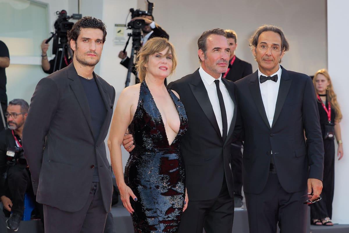 Jean Dujardin, Emmanuelle Seigner, Louis Garrel ja Alexandre Desplat.