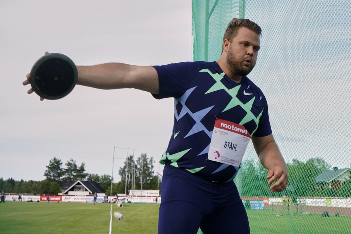 Daniel Ståhl Kuortaneella 1.8. 2020