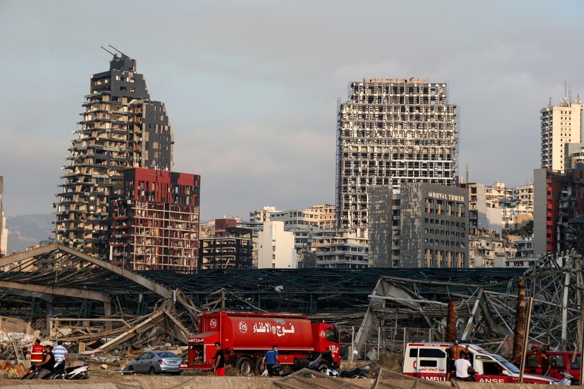 Beirutissa tapahtui tiistai-iltana valtava räjähdys satama-alueella