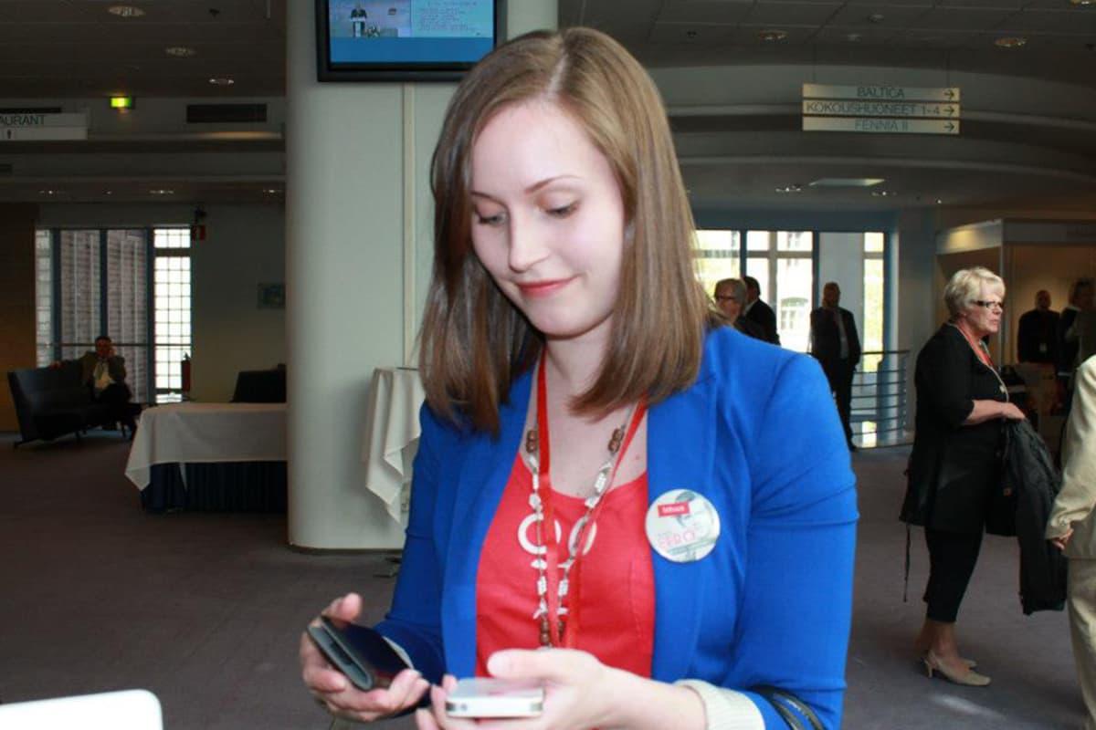 Kuvassa on Sanna Marin toukokuussa 2012.