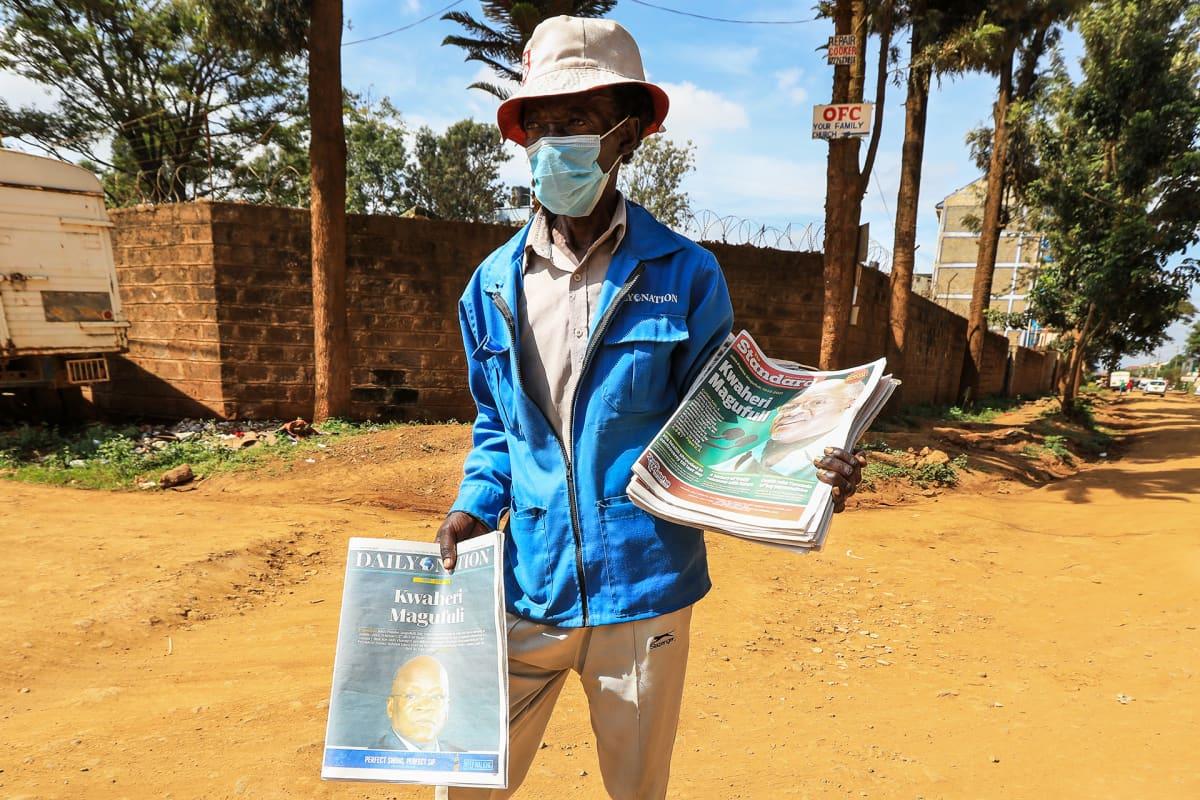 Magufulin kuolema nousi uutisotsikoihin mös Nairobissa Keniassa.
