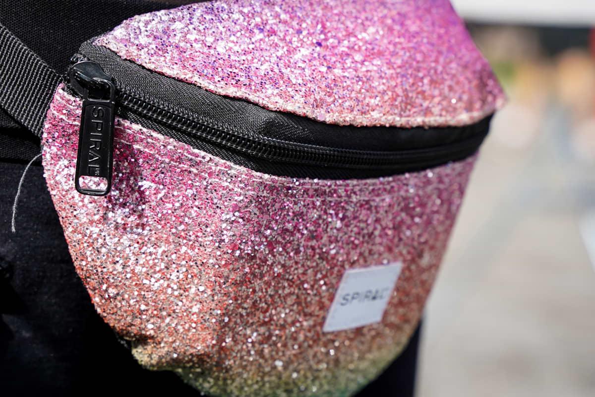 Aura Fest, vyölaukku, glitter