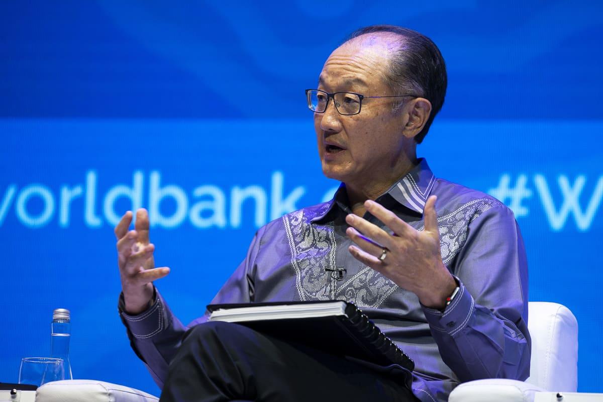 Maailmanpankin entinen pääjohtaja Jim Yong Kim IMF:n ja Maailmanpankin seminaarissa Balilla Indonesiassa lokakuussa 2018