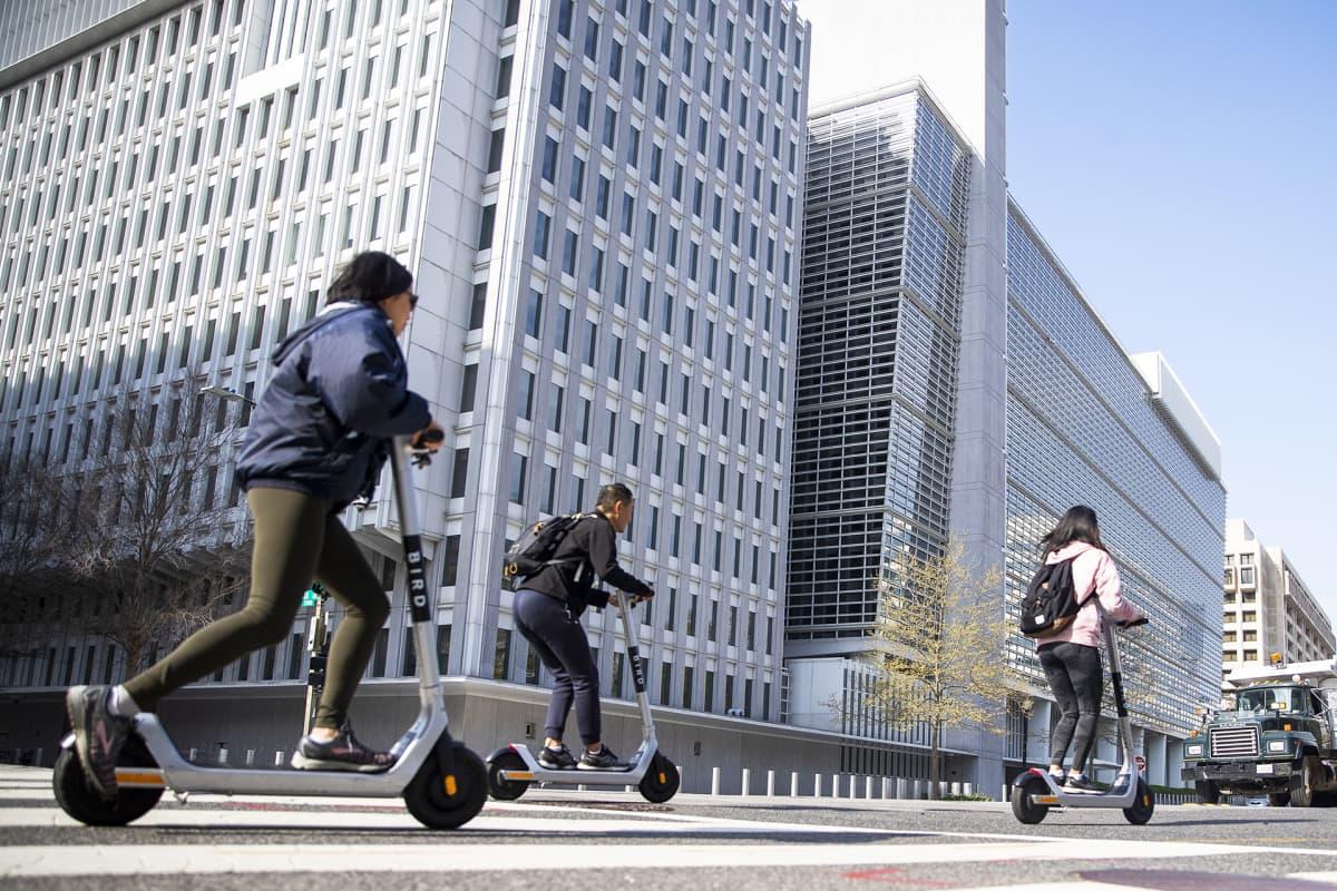 Maailmanpankin rakennus Washingtonissa.