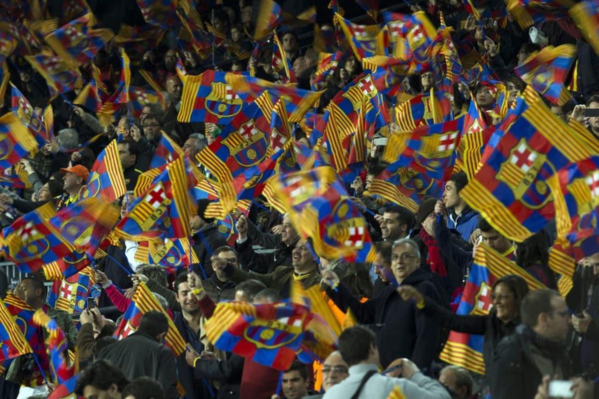 FC Barcelonan kannattajia.