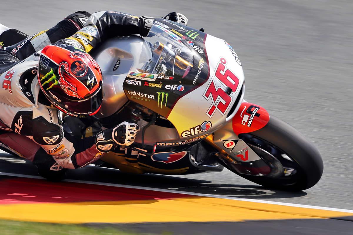 Mika Kallio ajaa Saksan GP:ssä.