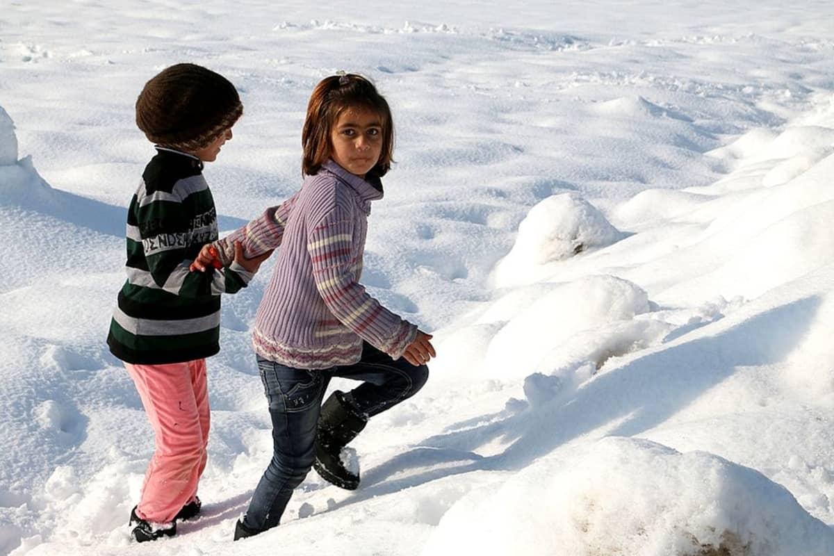Syyrialainen pakolaislapsi Bekaan laaksossa Libanonissa tammikuussa 2015.
