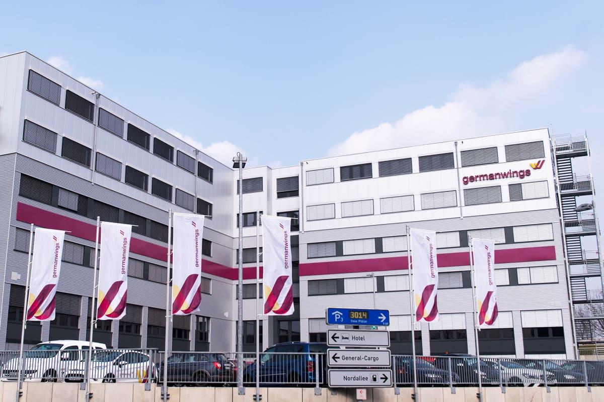 German Wingsin pääkonttori Kölnissä, Saksassa. Valokuva on otettu tiistaina 24. maaliskuuta.