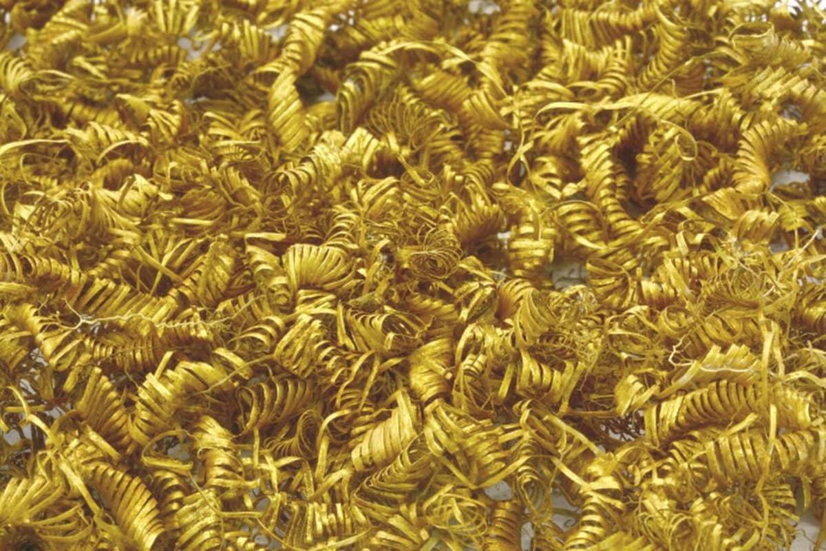 Tanskasta löydettyjä kultalankaspiraaleja vuosilta 900-700 e.a.a.