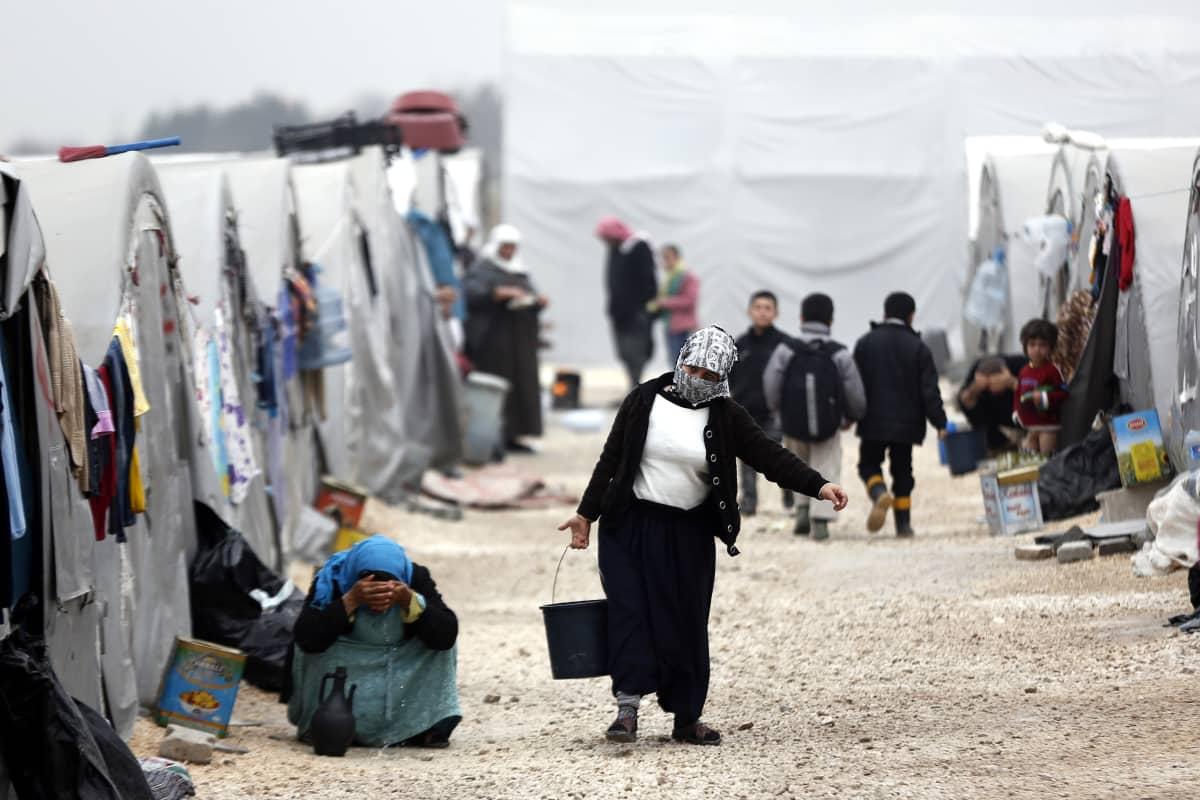 Syyrialaispakolaisten leiri Turkissa