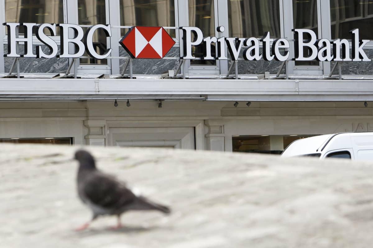 HSCB:n pankkikonttori Genevessä, Sveitsissä.