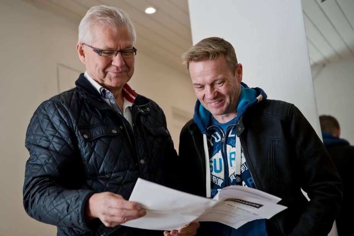Jussi Hirvonen ja Mika Sares.