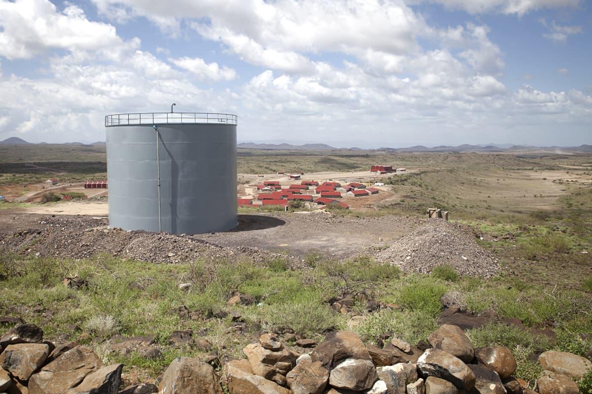 Turkanajärven tuulipuistoon on rakennettu kokonainen kylä sinne muuttaville työntekijöille.